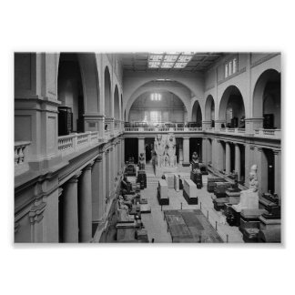 The Egyptian Museum. Interior of Main Hall c.1934 Poster