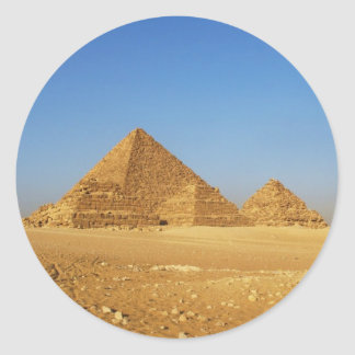 The Egyptian pyramids Round Sticker