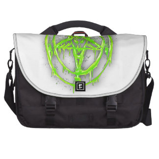 The Egyptian Symbol Of Good Luck with Color Green Laptop Commuter Bag