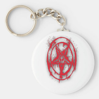The Egyptian Symbol Of Good Luck with Color Red Keychain