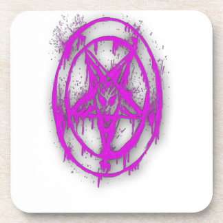 The Egyptian Symbol Of Good Luck with Color Violet Beverage Coaster