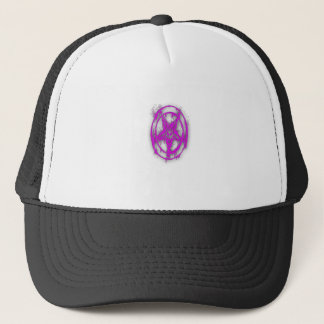 The Egyptian Symbol Of Good Luck with Color Violet Trucker Hat