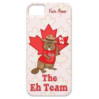 The Eh Team Beaver and Maple Leaf  - Customize iPhone 5 Case