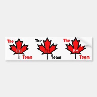 the eh team canada bumper sticker car bumper sticker