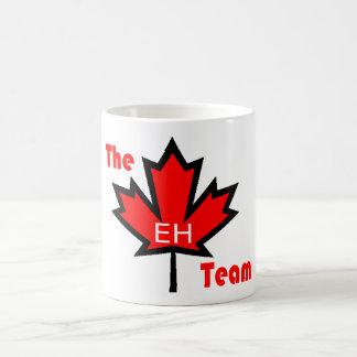 the eh team classic white coffee mug