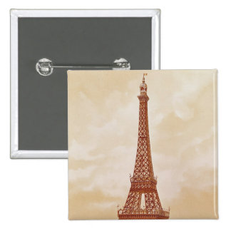 The Eiffel Tower, 1889 Pinback Buttons