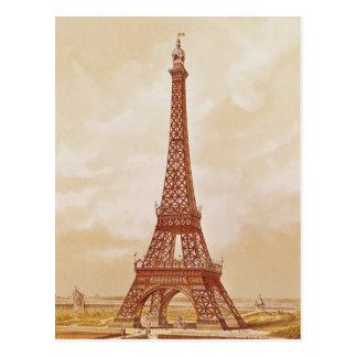 The Eiffel Tower, 1889 Postcard