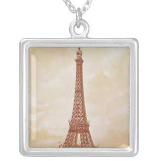 The Eiffel Tower, 1889 Silver Plated Necklace