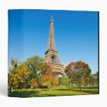 The Eiffel Tower 3 Ring Binder