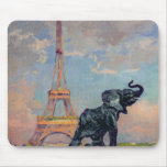 The Eiffel Tower and the Elephant by Fremiet Mouse Pad