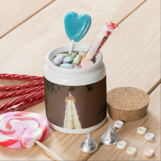 The Eiffel Tower at Night Candy Dish