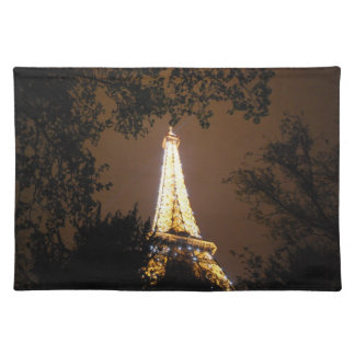 The Eiffel Tower at Night Cloth Placemat