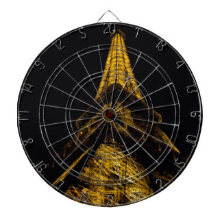 The Eiffel Tower at Night Dartboards