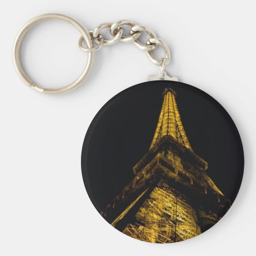 The Eiffel Tower at Night Keychain