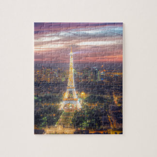 The Eiffel Tower at night, Paris France Jigsaw Puzzle