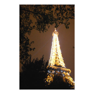The Eiffel Tower at Night Stationery