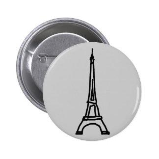 The Eiffel Tower 2 Inch Round Button