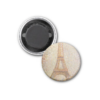 The Eiffel Tower by Georges Seurat 1 Inch Round Magnet