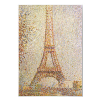 The Eiffel Tower by Georges Seurat 3.5x5 Paper Invitation Card