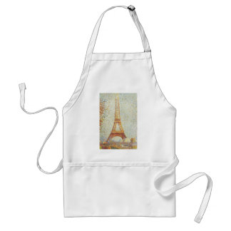 The Eiffel Tower by Georges Seurat Adult Apron