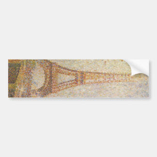 The Eiffel Tower by Georges Seurat Bumper Sticker