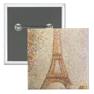 The Eiffel Tower by Georges Seurat Button