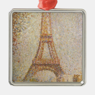 The Eiffel Tower by Georges Seurat Metal Ornament