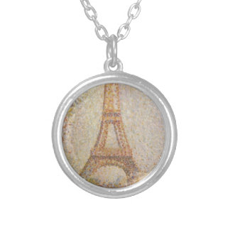 The Eiffel Tower by Georges Seurat Necklaces
