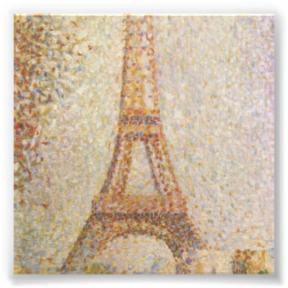 The Eiffel Tower by Georges Seurat Art Photo