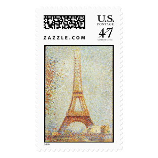 The Eiffel Tower by Georges Seurat Postage Stamp