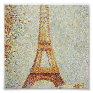 The Eiffel Tower by Georges Seurat Posters