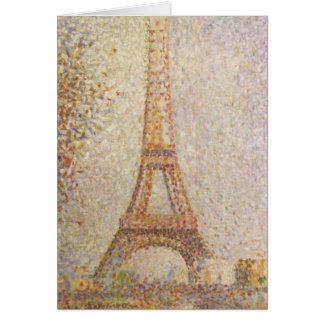 The Eiffel Tower by Georges Seurat Stationery Note Card
