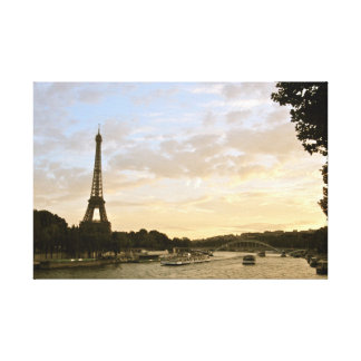 The Eiffel Tower by the Seine Canvas Print