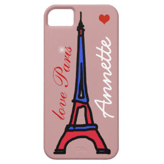 The Eiffel Tower custom name iPhone 5 Case