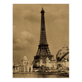 The Eiffel Tower from the Seine Paris Exposition Postcard