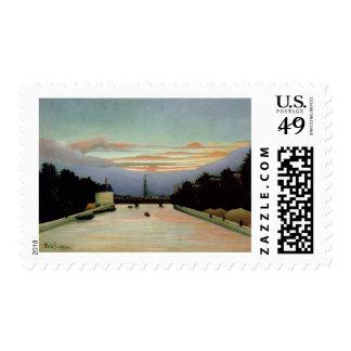 The Eiffel Tower Henri Rousseau 1898 Stamp