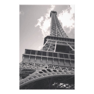 The Eiffel Tower in black and white Stationery
