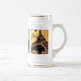 The Eiffel tower in Paris France Beer Stein