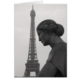 The Eiffel Tower in Paris Greeting Card