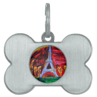 The Eiffel Tower in Paris Pet ID Tag