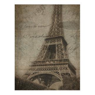 The Eiffel Tower in Paris postcard