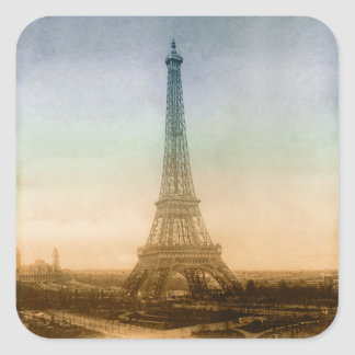 The Eiffel Tower In Paris Square Sticker