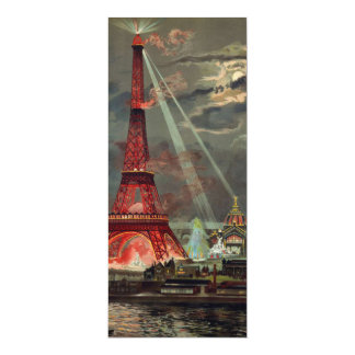 The Eiffel Tower in Red Invitation