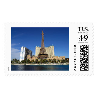 The Eiffel Tower of Paris France Skyline Postage