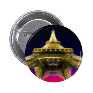 The Eiffel Tower Paris France Pinback Buttons