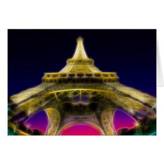 The Eiffel Tower, Paris, France Card