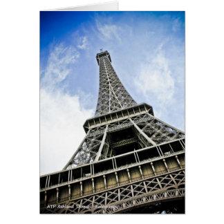 The Eiffel Tower - Paris, France Card