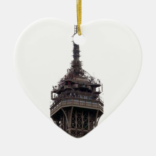 The Eiffel Tower Paris France Ceramic Ornament