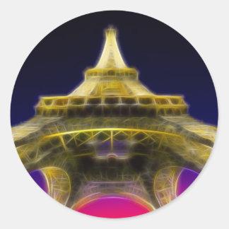 The Eiffel Tower, Paris, France Classic Round Sticker