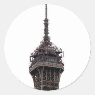 The Eiffel Tower Paris France Classic Round Sticker